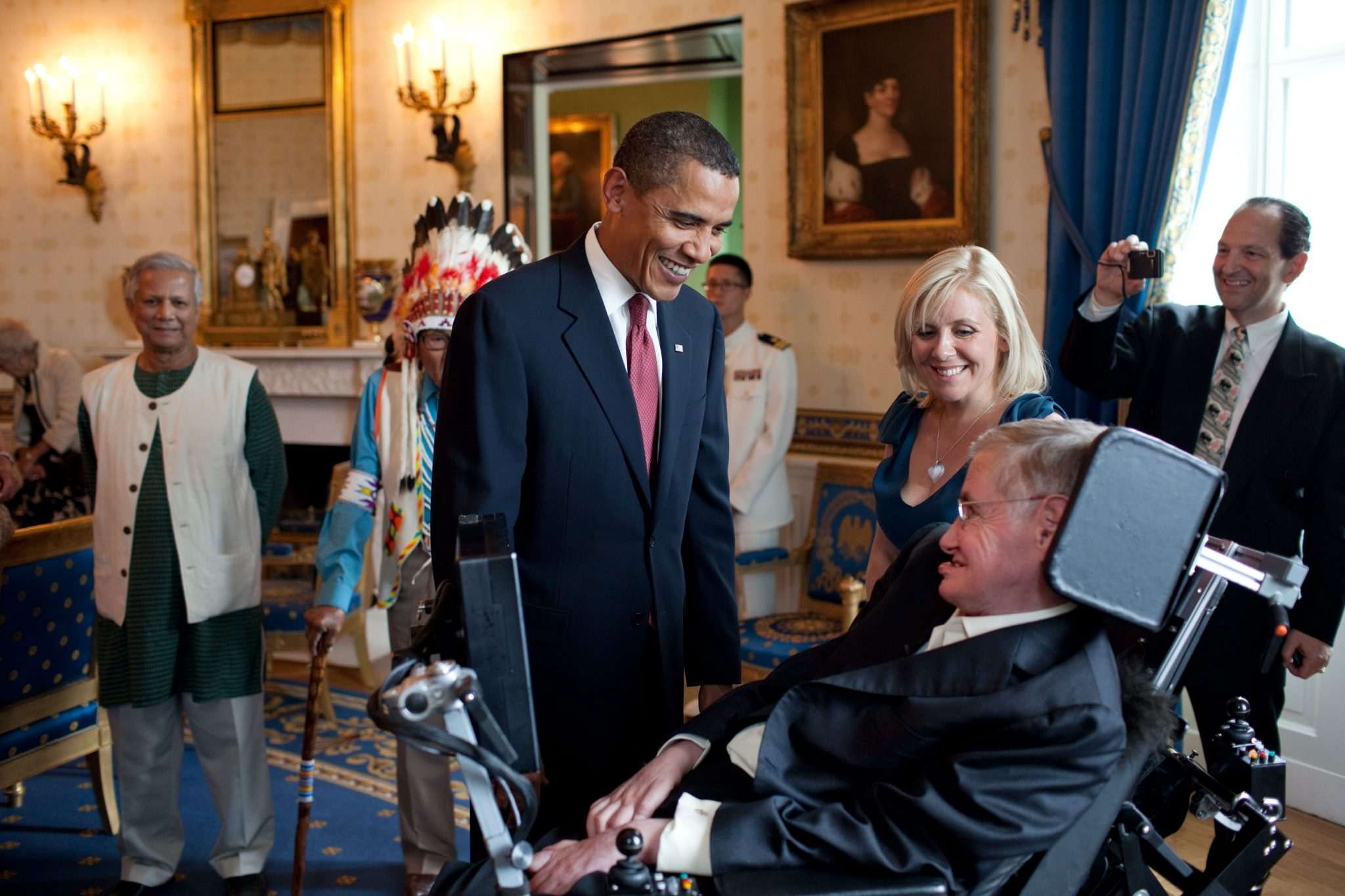 Stephen Hawking e Barack Obama