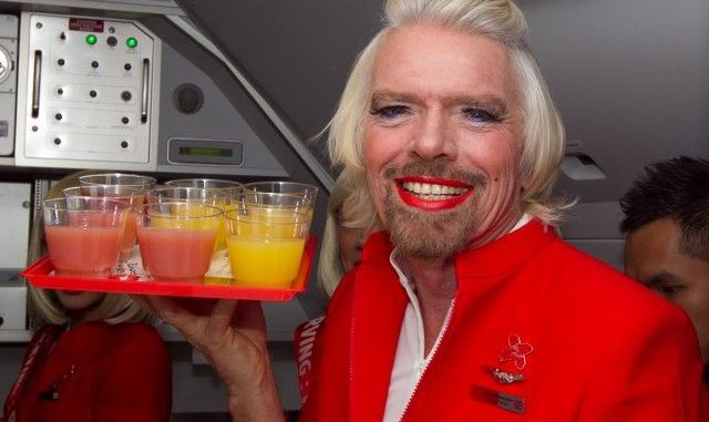 Richard Branson Hostess