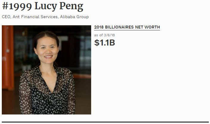 Lucy Peng Co-fondatrice di Alibaba