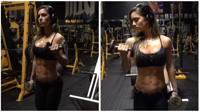 Anllela Sagra Allenamento Workout Alternate Biceps Curl