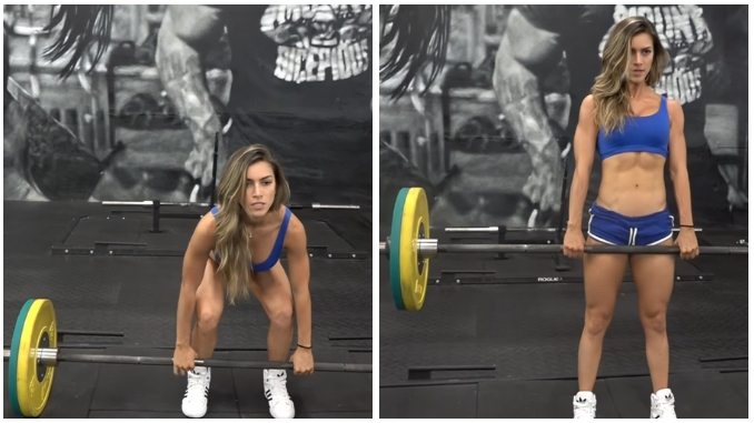 Anllela Sagra Allenamento Workout Deadlift