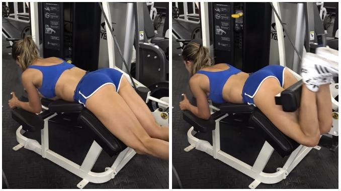 Anllela Sagra Allenamento Workout Hamstring Curl (Back)