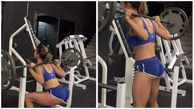 Anllela Sagra Allenamento Workout Squat (Back)