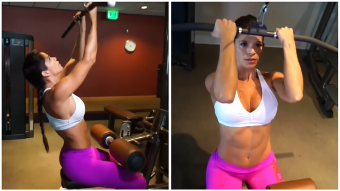 Michelle Lewin - Biceps Lat Pulldown
