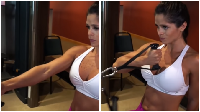 Michelle Lewin - Single Arm Seated Cable Bicep Curl
