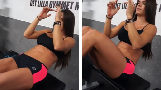 Michelle Lewin - Bench V-Sit Crunches