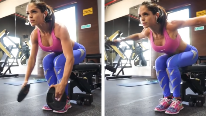 Michelle Lewin - Seated Reverse Fly with Plates