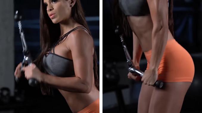 Michelle Lewin - Triceps Pushdown - V-Bar Attachment