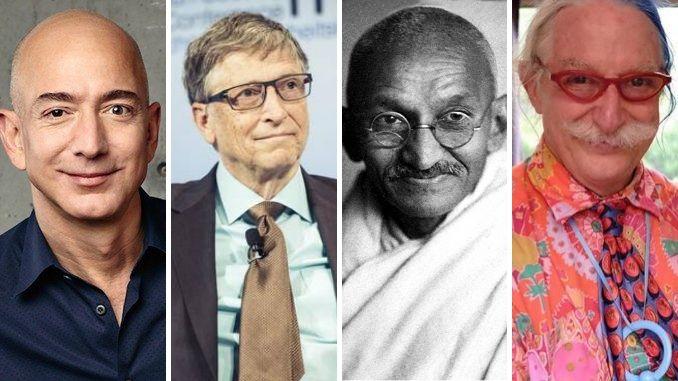 Jeff Bezos - Bill Gates - Mahatma Gandhi - Patch Adams - Modelli di Successo